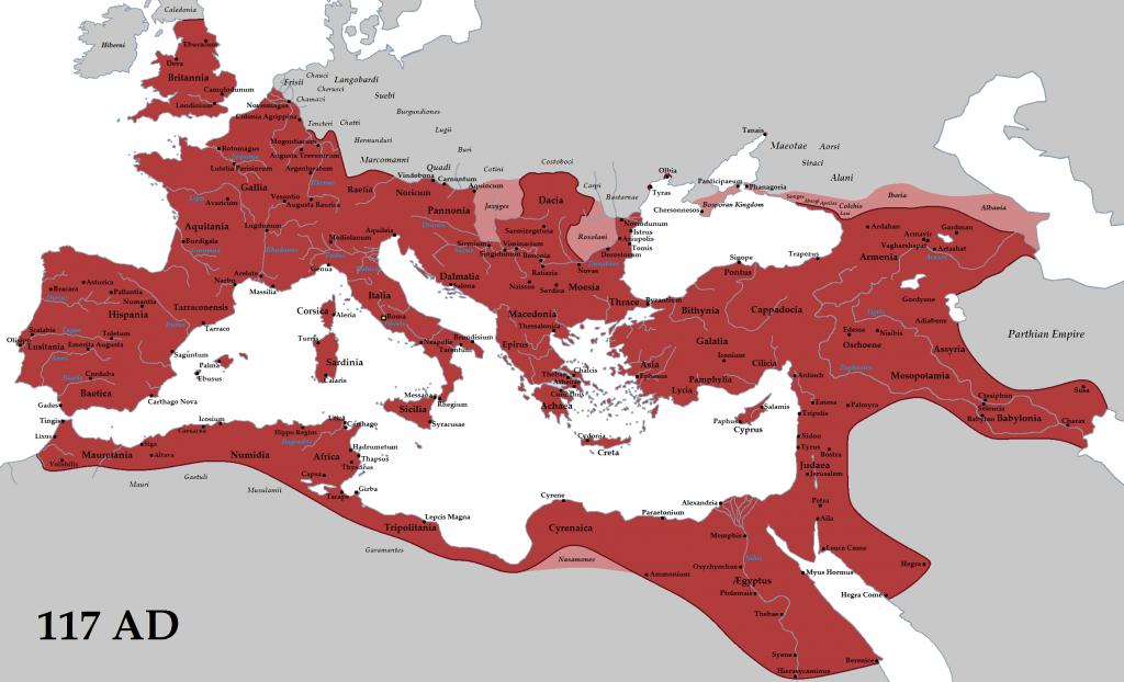 Римская империя 117 г. н.э.