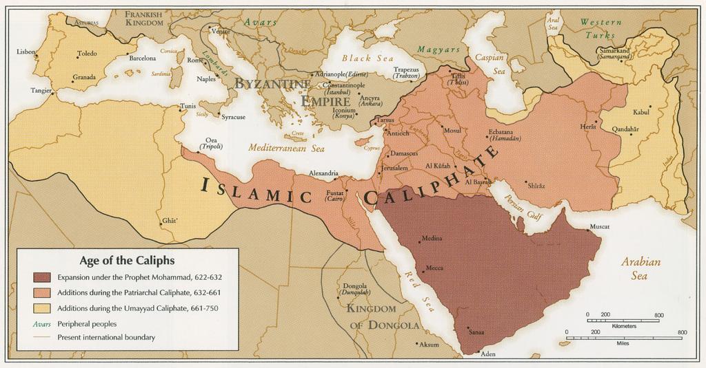 Аббасидский исламский халифат, основной цивилизационный противник Западной цивилизации в 622-750 гг. (Фото: www.islametinfo.fr)