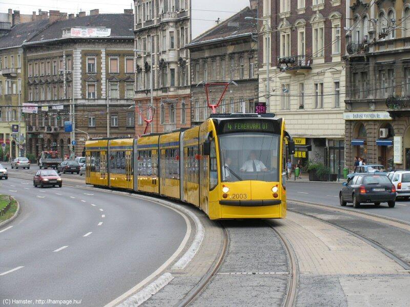 Трамваи в Будапеште (hampage.hu).