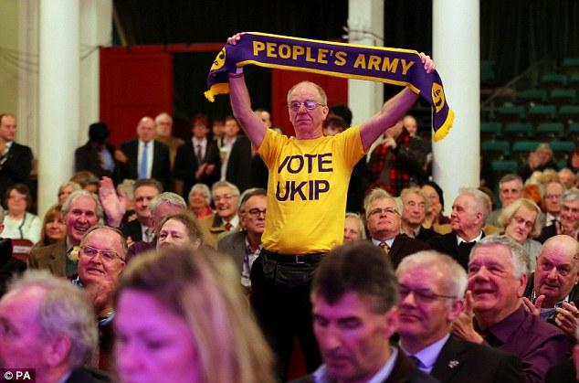 Демонстрация сторонников партии UKIP, выступающей за выход Британии из ЕС.  dailymail.co.uk