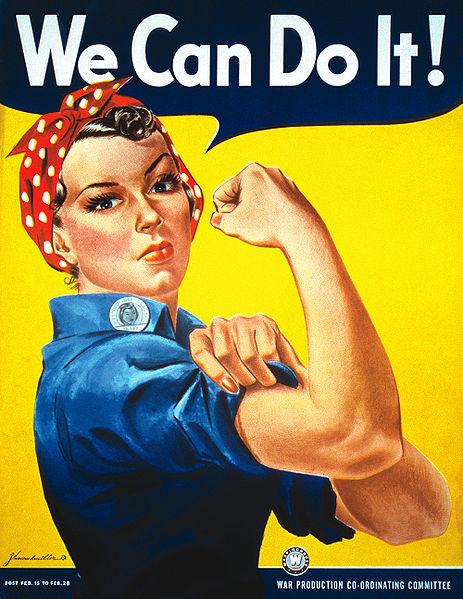 """Американский постер """"Мы можем!"""", 1943 год."""