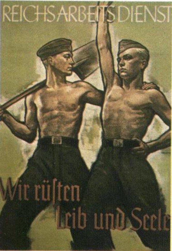 """Текст на плакате: """"Мы укрепляем тело и дух."""""""