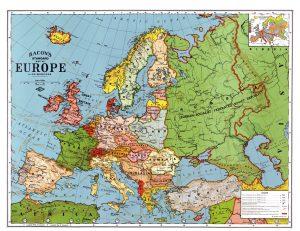 Европа до Второй мировой войны. Карта 1923 г. © Zonu.com