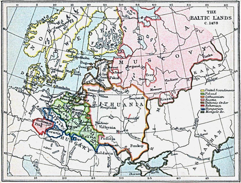 Северо-восточная Европа, 1478 г.